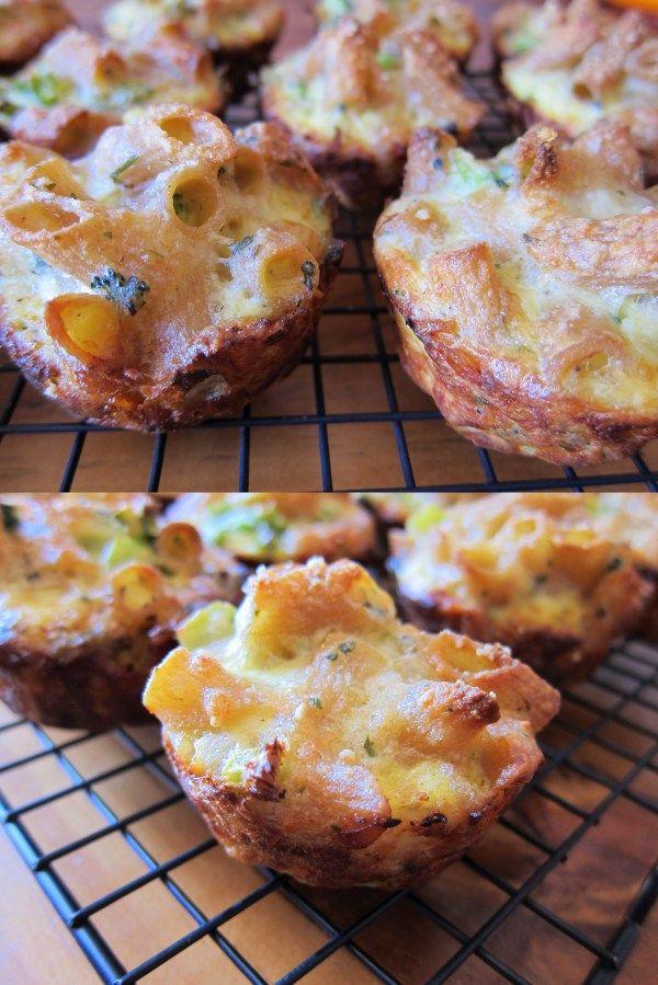 Broccoli & cheese pasta cups Free Recipe Network | Free Recipe Network