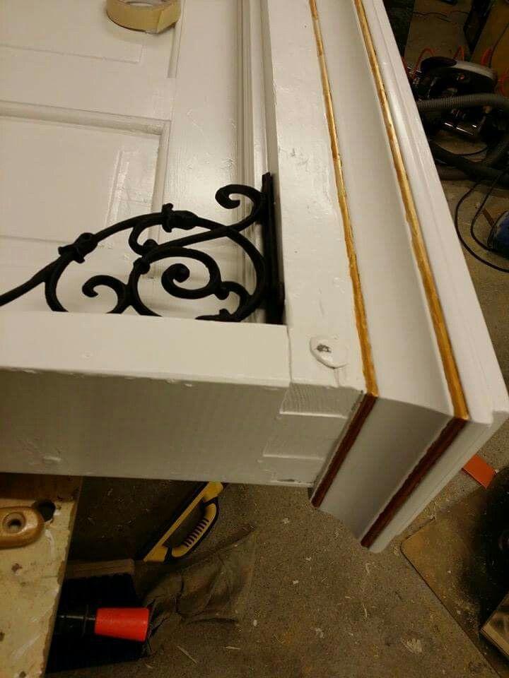 headboard old exterior door