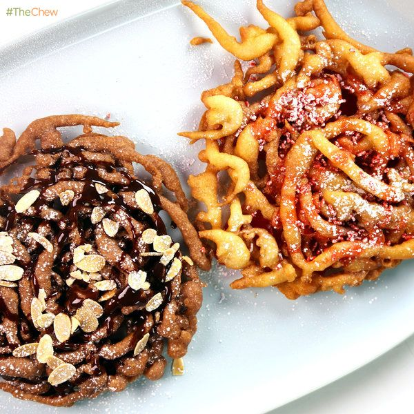 Funnel Cake Two Ways by Carla Hall! #TheChew #Dessert