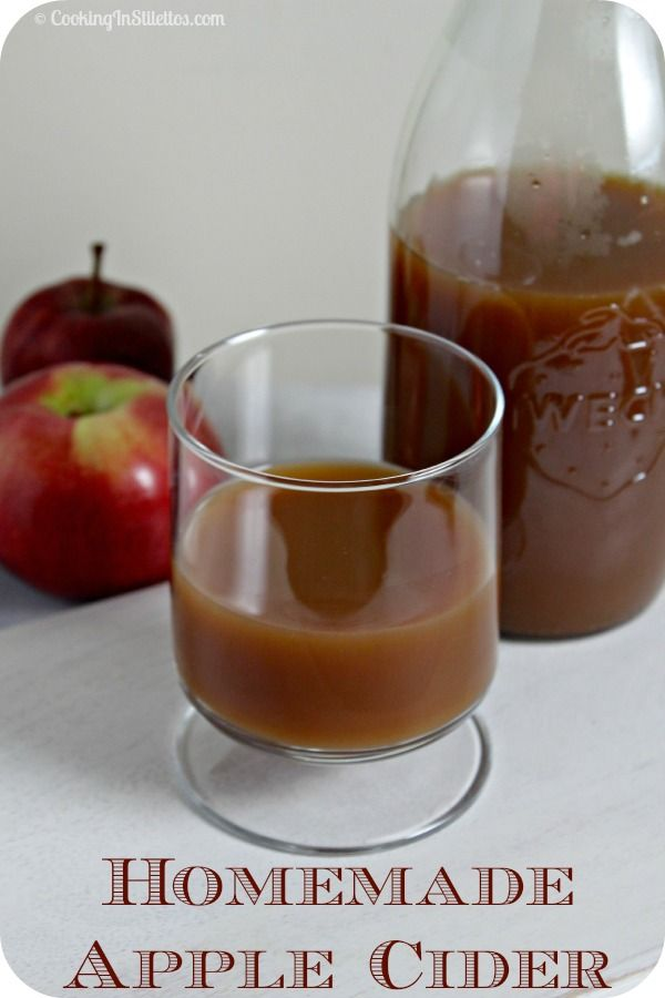 Homemade Apple Cider | Cooking In Stilettos  http://cookinginstilettos.com/homemade-apple-cider/