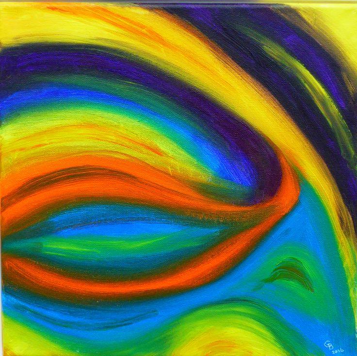 THE EYE - oil on canvas by Gorica Bulcock