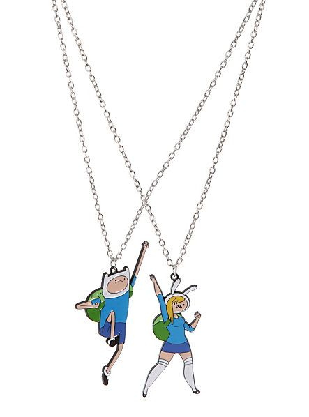 Adventure Time Finn & Fionna Best Friends Necklaces | Hot Topic