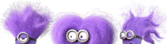 Purple face make up, gnarly teeth and crazy purple hair are among the special extra items you might need to purchase to make an evil minion costume.
