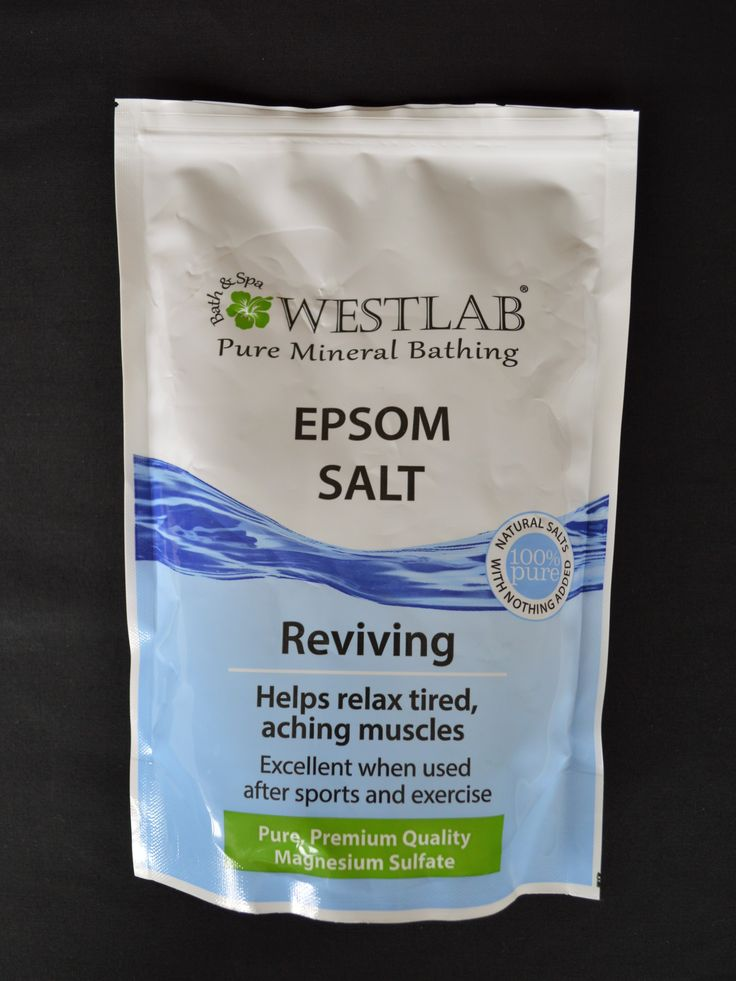 Epsom Salts - Pure Mineral Bathing | Westlab | Ideal for sports recovery and muscle relaxation | Mineral compound of magnesium sulphate helps detoxify and relax the muscles | (Revital.co.uk Affiliate Link)