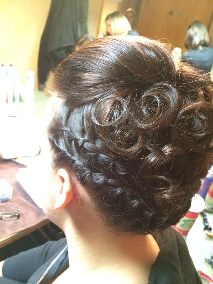 Double waterfall braid up style formal Updo bridal 2014 looks