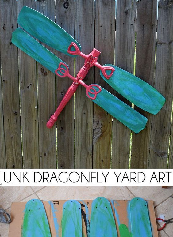 Flea Market Finds Are Turned Into The Cutest Junk Dragonfly Yard Art I Want To