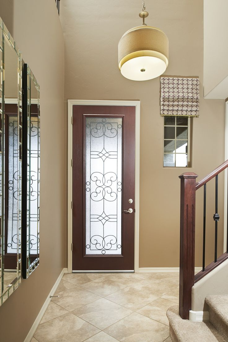Decorative glass door detail & @progressltg Ashbury pendant light in our Brittney model home | Richmond American Homes, Tucson | http://www.richmondamerican.com/Arizona/Tucson-new-homes/Tucson/Westview-Pointe/Brittney/?taa=HB&td=Pinterest&ls=Online&cmpid=PINTEREST