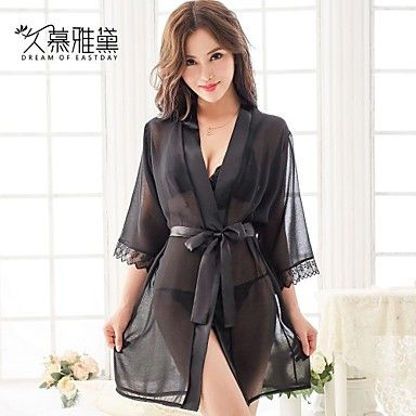 DREAM OF EASTDAY® Women's Sexy Lace  temptation nightdress  three piece suit(Fit S-XL) – USD $ 12.74