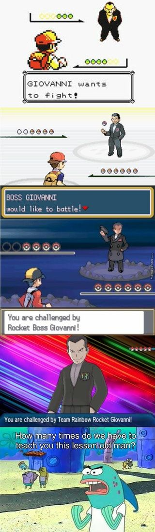 Goddamn it Giovanni : gaming<< lol I never got to play the first two games but this is hilarious XD