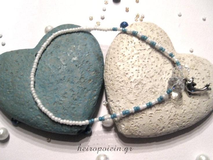 Χειροποίητο Βραχιόλι Ποδιού με χάντρες  http://www.heiropoiein.gr/vrahiolia/vrahioli-podiou-2-detail.html