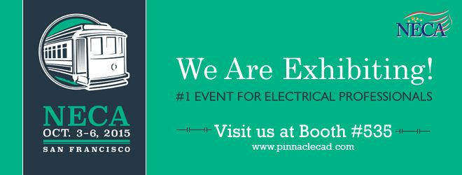 The national Electrical Contractors Association (NECA) is exhibiting again, and this time Pinnacle Infotech will be there! After all, it's about the industry leaders! Catch us at #535! Pinnacle and the rest at NECA, the world's best at the largest! Pinnacle at NECA! Unbelievable! High-end technology, accurate solutions, trustworthiness - all rolled into one at #535, NECA.
