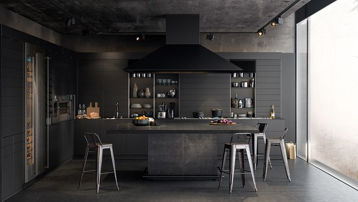 Types of Luxury Dark Kitchen Designs Completed With Modern and Stylish Decorating Ideas