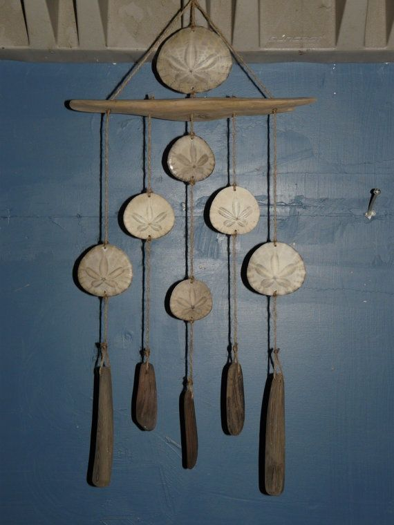 sand dollar attached to drift wood | Sand Dollar & Driftwood Wind Chime by Peninsula ... | chimes & yard a ...