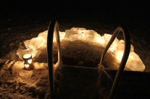 Avanto - Ice hole for winter dip in the lake in the middle of #sauna bath - #Nuuksio National Park