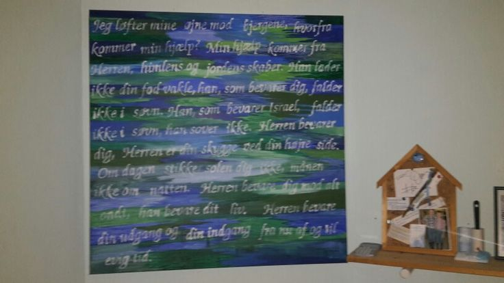 Malerier med bivelvers på 100*100 cm