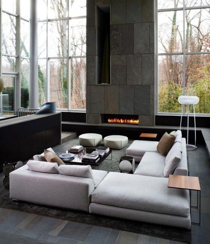 Deko Fur Wohnzimmer Sitzplatz Einrichten Hellgraues Sofa