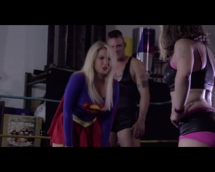 Watch bondage superheroine