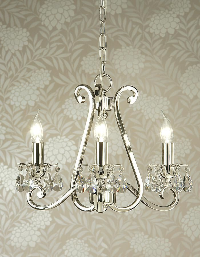 Luxuria 3 Light Chandelier with No Shades