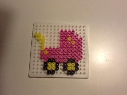 Hama beads baby carriage