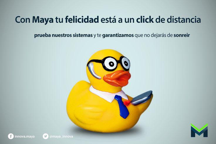 La #felicidad a un click de distancia con #maya. Prueba #gratis nuestros #sistemas y no dejarás de #sonreir. http://innovacionmaya.com / 01 222 237 4715  #SonríeConMaya