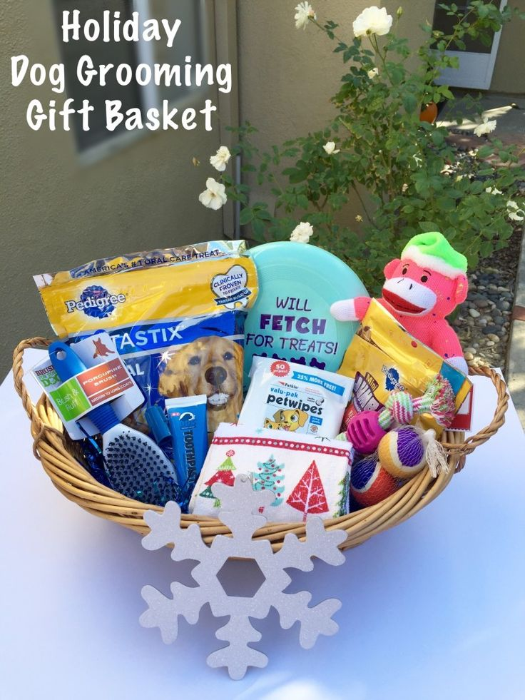 16 best dog gift baskets images on pinterest dog gift baskets holiday dog grooming gift basket step by step tutorial with pictures negle Image collections