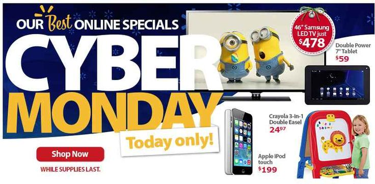 Who is ready for Cyber Monday?!? Check out all of the great Walmart Cyber Monday Sales!