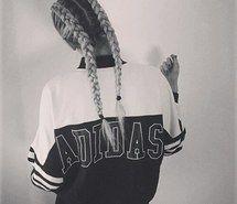 Inspiring image adidas, blonde, gang, gangsta, girl, hair, sport,