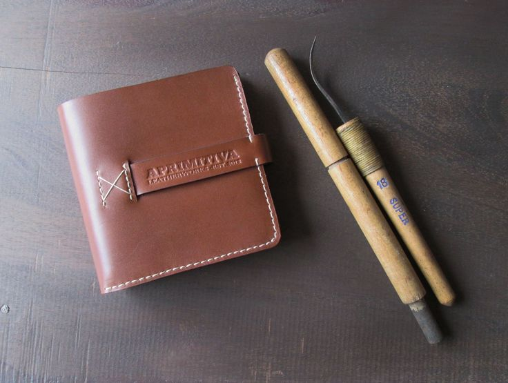 Leather Men's Wallet // Dolmens Men's Wallet