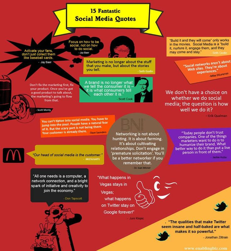 15 Fantastic Social Media Quotes!!!   Out of the 15 quotes, which one do you think is the best one? Do let us know in the comment section below!: 15 Fantastic, Media Infographics, Infographic Socialmedia, Infografia Infographic, Citas Quotes, Social Media Quotes, 15 Quotes, Fantastic Socialmedia, Socialmedia Quotes