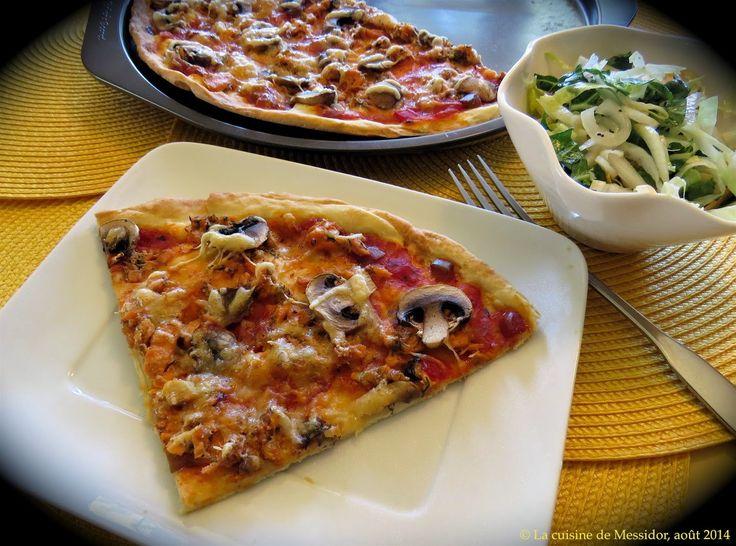 La cuisine de Messidor: Pâte à pizza express à croûte mince no 3