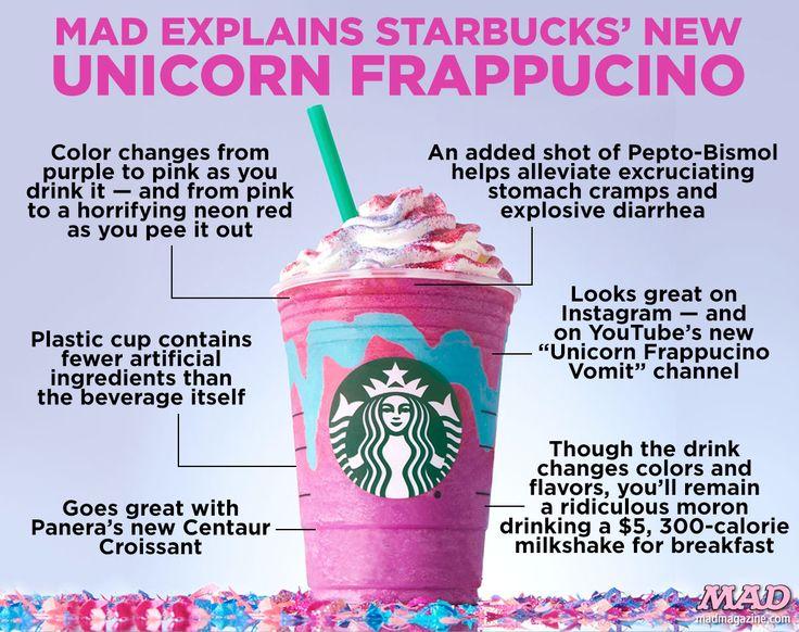 MAD Magazine, Idiotical Originals, Starbucks, Unicorn Frappucino