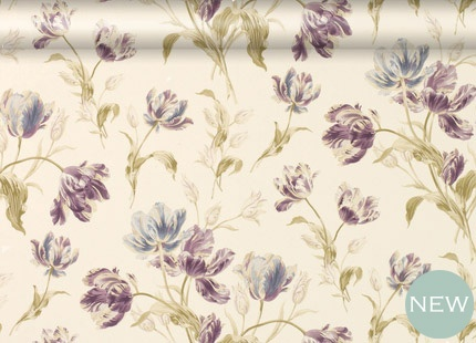 Gosford Meadow Plum Wallpaper