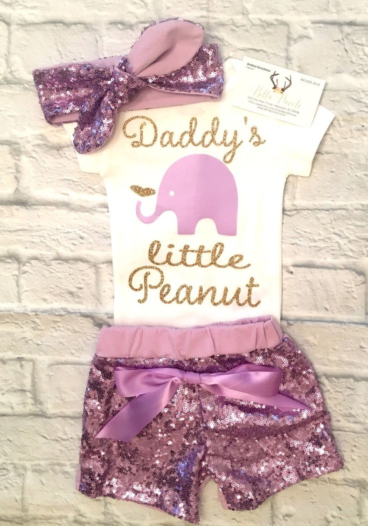 Baby Girl Clothes, Lavender and Gold Daddy's Little Peanut, Daddy's Little Peanut Onesie, Little Peanut Bodysuits, Little Peanut, Daddy's Little Peanut, Father's Day Gifts, Baby Girl Baby Shower Gifts - BellaPiccoli