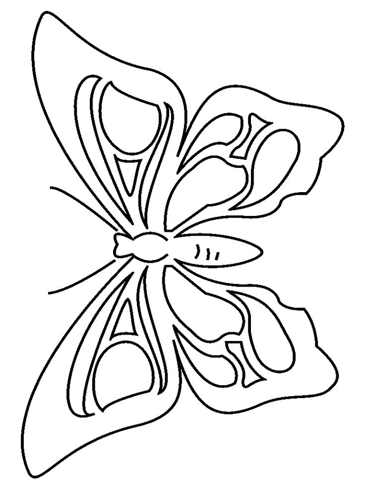 Butterfly Coloring Page 2 Preschool Activity Printables