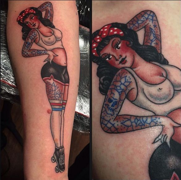 273 best images about inked inspiration on pinterest for Traditional pin up tattoos