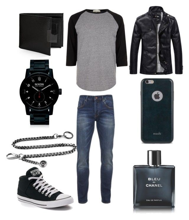 """#ContestOnTheGo #ContestEntry"" by trin516 ❤ liked on Polyvore featuring River Island, Scotch & Soda, Converse, Nixon, Perry Ellis, Moshi, Chanel, men's fashion, menswear and contestentry"