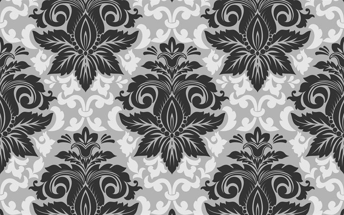 Download wallpapers seamless background, vintage, retro, floral texture