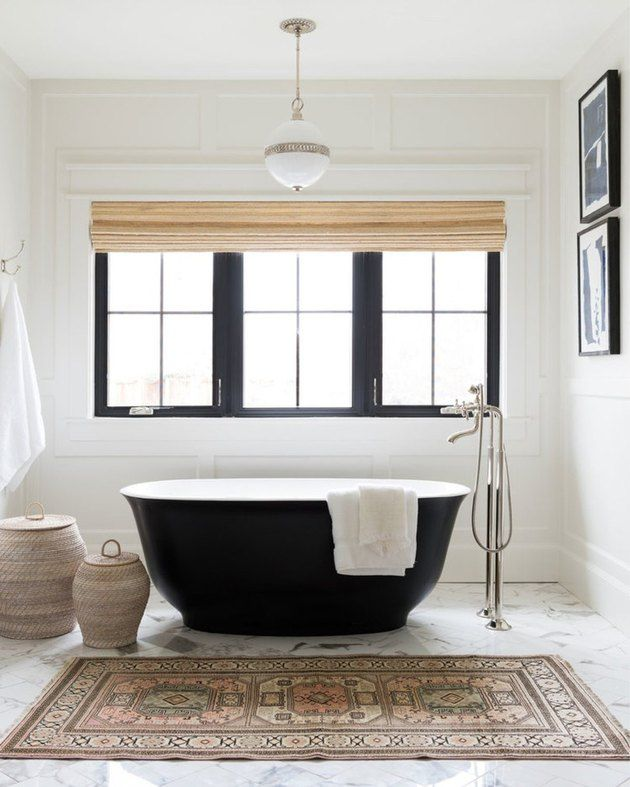 These Pendant Lighting Bathroom Ideas Are Simply Radiant Hunker Black Tub Bathroom Lighting Bathroom Design
