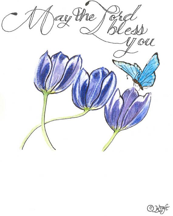 May the Lord bless you Christian Greeting Card !