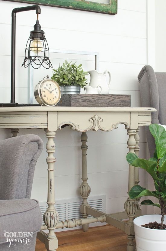 Farmhouse style & painted side table