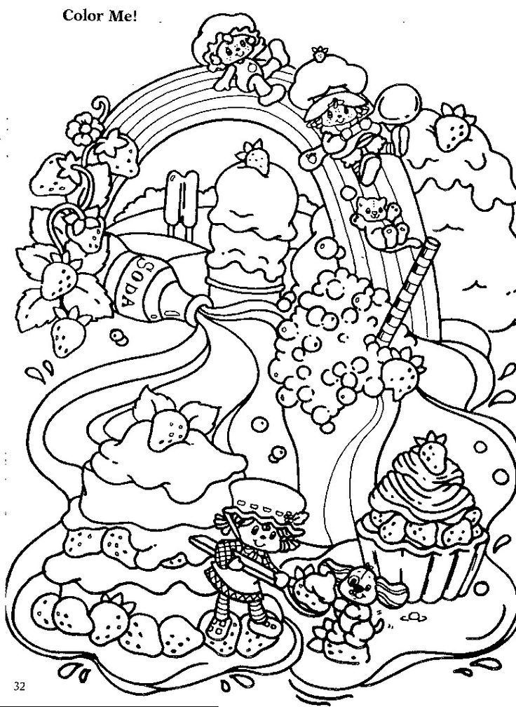 22 best Colouring--Strawberry Shortcake images on Pinterest ...