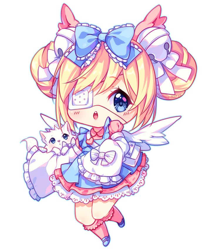 Crayon Shading Chibi Commission For Yukina Chi What A Cute Tsundere We Got There Haha Im So Glad She Asked Me To Draw This Oc I Love Playing With Exp