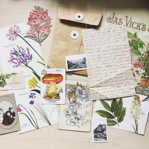 Victorian journal kit - lost in the Garden
