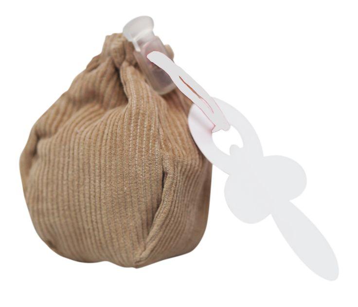 little dummy (storage) bag @Fabs World  #dummy #speen #storage #corduroy #fashion #bag #kids #baby #nursery #pregnancy #packaging  shop online: fasstore.com (ship worldwide)