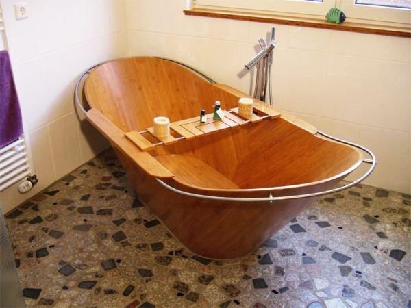 Die besten 25+ Holzbadewanne Ideen auf Pinterest | Japanisches bad ... | {Freistehende badewanne holz 46}