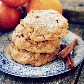 These soft Cinnamon Apple Cookies are a grain free, gluten free, with a hint of spice and taste best fresh out of the oven!