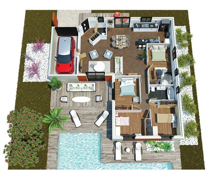 Les 25 meilleures id es de la cat gorie maison d for Sims 3 salon moderne