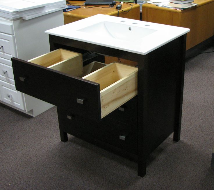 The Belltown Collection: This Smart Drawer Design Provides Useful Storage  While Allowing For Plumbing.