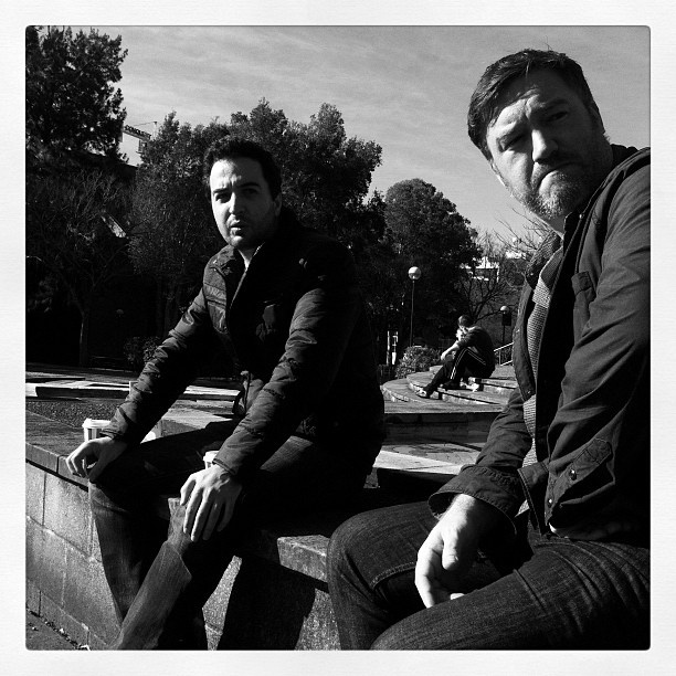 "@derekclapham's photo: ""Grumpy old men @gabsiscoding and @kaintietzel #pmhq"""