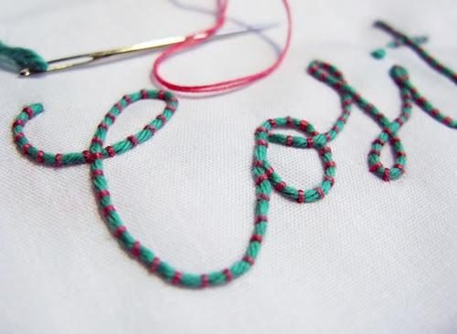 pretty couching stitch